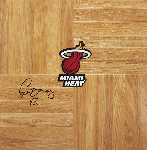 Grant Long Miami Heat Signed Autographed Basketball Floorboard