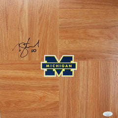 Nik Stauskas Michigan Wolverines Autographed Signed Basketball Floorboard JSA COA