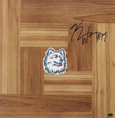 Kemba Walker Connecticut Huskies Autographed Signed Basketball Floorboard CAS COA