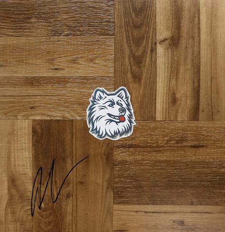Andre Drummond Connecticut Huskies Signed Autographed Basketball Floorboard