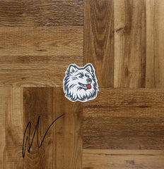 Andre Drummond Connecticut Huskies Autographed Signed Basketball Floorboard
