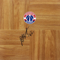 Davis Bertans Washington Wizards Signed Autographed Basketball Floorboard