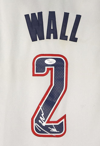 John Wall Washington Wizards Signed Autographed White Alternate #2 Jersey JSA COA