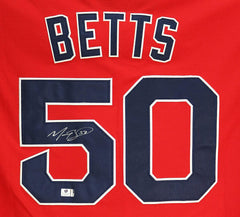 Mookie Betts Boston Red Sox Signed Autographed Red #50 Jersey Global COA