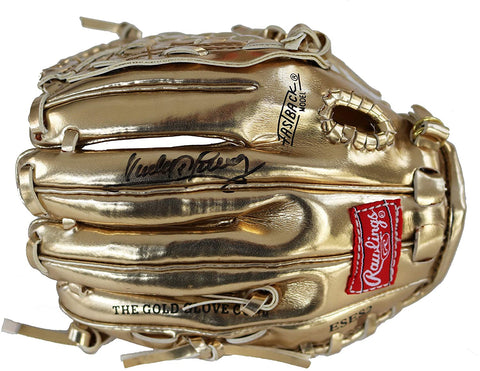 Sandy Alomar Jr. Cleveland Indians Signed Autographed Rawlings Mini Gold Glove JSA COA
