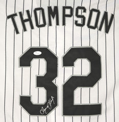 Trayce Thompson Chicago White Sox Signed Autographed White Pinstripe #32 Jersey JSA COA