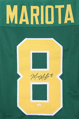 Marcus Mariota Oregon Ducks Signed Autographed Green #8 Custom Jersey PAAS COA