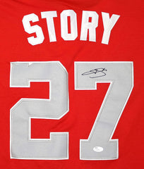 Trevor Story Colorado Rockies Signed Autographed 2018 All Star #27 Jersey JSA COA