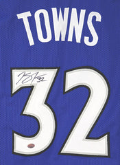 Karl-Anthony Towns Minnesota Timberwolves Signed Autographed Blue #32 Custom Jersey Pinpoint COA