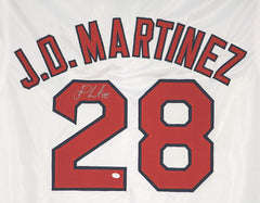 J.D. Martinez Boston Red Sox Signed Autographed White #28 Custom Jersey PAAS COA