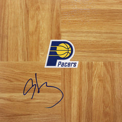 Al Harrington Indiana Pacers Signed Autographed Basketball Floorboard