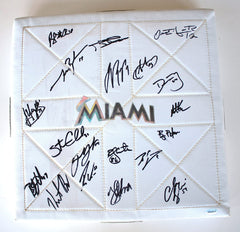 Miami Marlins 2012 Team Autographed Signed MacGregor Baseball Base AI COA Reyes Johnson