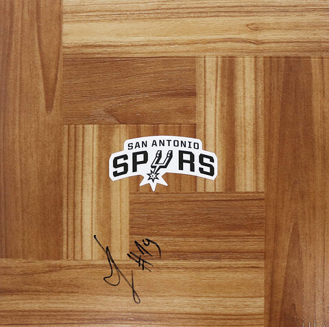 Luka Samanic San Antonio Spurs Autographed Signed Basketball Floorboard