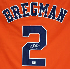 Alex Bregman Houston Astros Signed Autographed Orange #2 Jersey Global COA