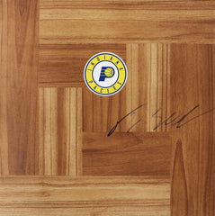 T. J. Leaf Indiana Pacers Signed Autographed Basketball Floorboard