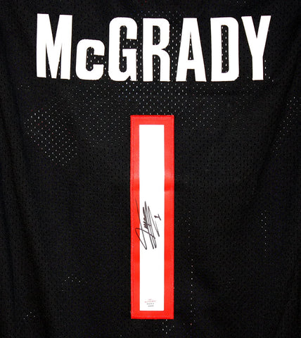 Tracy McGrady Toronto Raptors Signed Autographed Black #1 Jersey PAAS COA