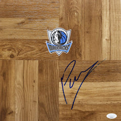 Kristaps Porzingis Dallas Mavericks Autographed Signed Basketball Floorboard JSA COA
