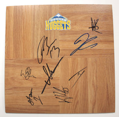 Denver Nuggets 2012-13 Team Autographed Signed Basketball Floorboard Ty Lawson Danilo Gallinari
