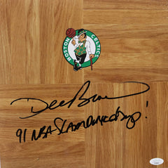 Dee Brown Slam Dunk Champ Boston Celtics Signed Autographed Basketball Floorboard JSA COA