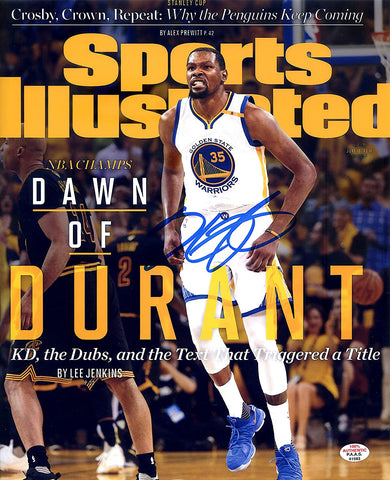 "Kevin Durant Golden State Warriors Signed Autographed 8"" x 10"" Sports Illustrated Cover Photo PAAS COA"