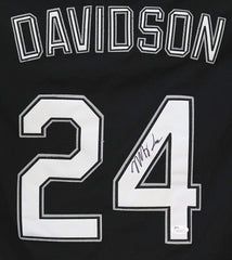 Matt Davidson Chicago White Sox Signed Autographed Black #24 Jersey JSA COA