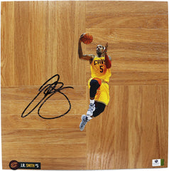 J.R. Smith Cleveland Cavaliers Signed Autographed Basketball Floorboard Witnessed Global COA