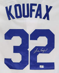 Sandy Koufax Los Angeles Dodgers Signed Autographed White #32 Jersey Global COA