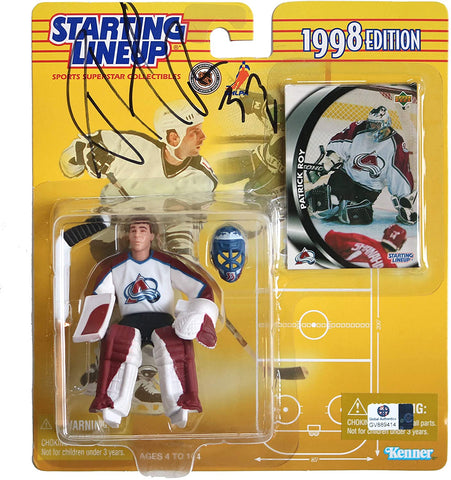 Patrick Roy Colorado Avalanche Signed Autographed Starting Lineup 1998 Edition Action Figure Global COA