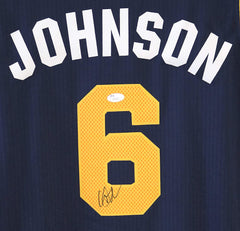 Joe Johnson Utah Jazz Signed Autographed Blue #6 Jersey JSA COA