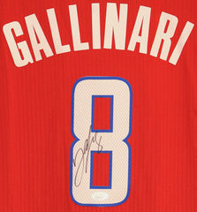 Danilo Gallinari Los Angeles Clippers Signed Autographed Red #8 Jersey JSA COA