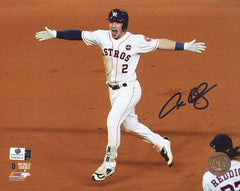 "Alex Bregman Houston Astros Signed Autographed 8"" x 10"" World Series Walk Off Home Run Photo Global COA"