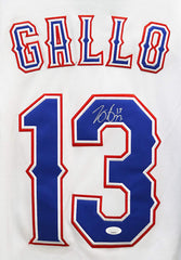 Joey Gallo Texas Rangers Signed Autographed White #13 Jersey JSA COA