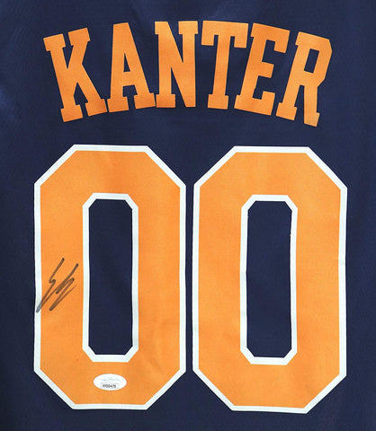 Enes Kanter New York Knicks Signed Autographed Blue City Edition #00 Jersey JSA COA