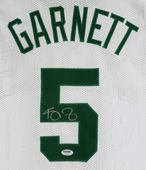 Kevin Garnett Boston Celtics Signed Autographed White #5 Custom Jersey PSA/DNA COA Sticker Hologram Only