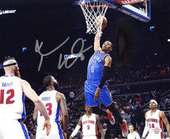 "Russell Westbrook Oklahoma City Thunder Signed Autographed 8"" x 10"" Dunk Photo PAAS COA"