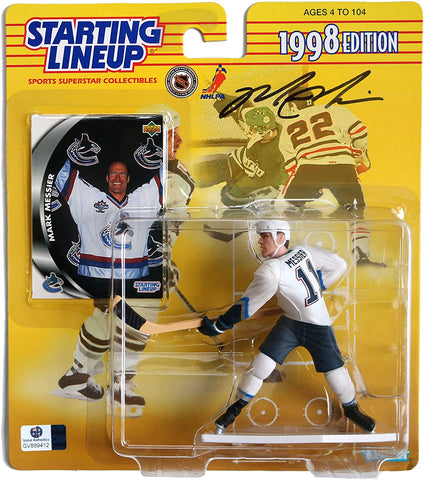 Mark Messier Vancouver Canucks Signed Autographed Starting Lineup 1998 Edition Action Figure Global COA