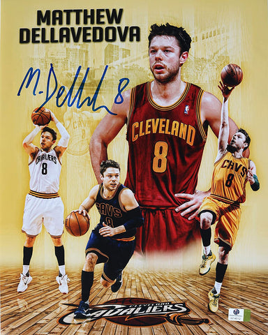 "Matthew Dellavedova Cleveland Cavaliers Signed Autographed 11 x 14"" Photo Witnessed Global COA"