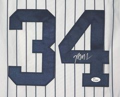 Brian McCann New York Yankees Signed Autographed White Pinstripe #34 Jersey JSA COA