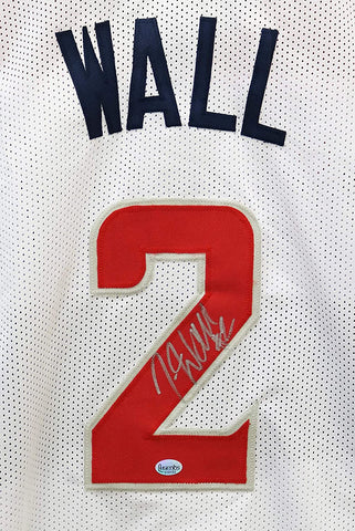 John Wall Washington Wizards Signed Autographed White #2 Custom Jersey