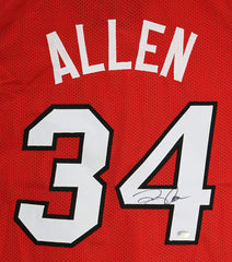 Ray Allen Miami Heat Signed Autographed Red #34 Custom Jersey PP COA
