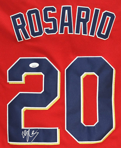 Eddie Rosario Minnesota Twins Signed Autographed Red #20 Jersey Size XL JSA COA