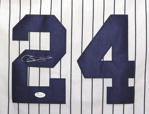 Gary Sanchez New York Yankees Signed Autographed White Pinstripe #24 Jersey JSA COA