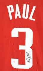 Chris Paul Houston Rockets Signed Autographed Red #3 Custom Jersey PAAS COA