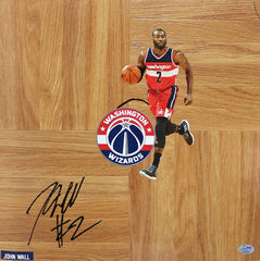 John Wall Washington Wizards Signed Autographed Basketball Floorboard SGC COA