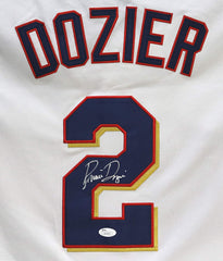 Brian Dozier Minnesota Twins Signed Autographed White #2 Jersey Size M JSA COA