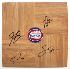 Los Angeles Clippers 2014-15 Team Autographed Signed Basketball Floorboard Round Logo