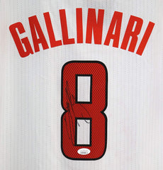 Danilo Gallinari Los Angeles Clippers Signed Autographed White #8 Jersey JSA COA