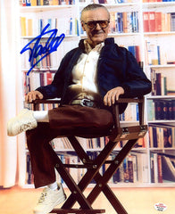"Stan Lee Signed Autographed 8"" x 10"" Marvel Comics Director's Chair Photo PAAS COA"