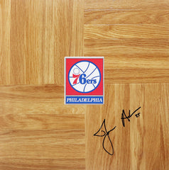 James Anderson Philadelphia 76ers Signed Autographed Basketball Floorboard