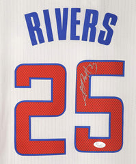 Austin Rivers Los Angeles Clippers Signed Autographed White #25 Jersey JSA COA